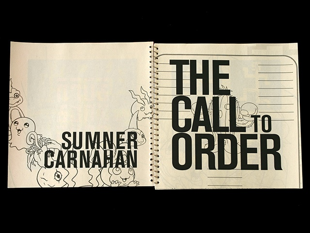 THE CALL TO ORDER - title page